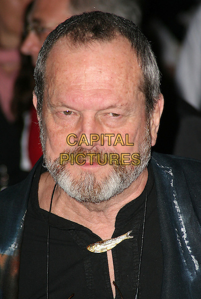 "TERRY GILLIAM .Attending the UK film premiere of ""The Imaginarium Of Doctor Parnassus"" at the Empire Leicester Square cinema, London, England, UK, October 6th 2009..portrait headshot  beard facial hair black director fish brooch  .CAP/JIL.©Jill Mayhew/Capital Pictures"