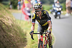 Sylvain Chavanel (FRA) Direct Energie from the breakaway group out front during Stage 5 of the 2018 Tour de France running 204.5km from Lorient to Quimper, France. 11th July 2018. <br /> Picture: ASO/Pauline Ballet | Cyclefile<br /> All photos usage must carry mandatory copyright credit (&copy; Cyclefile | ASO/Pauline Ballet)