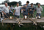 Quantock Staghounds 1990s Uk. Somerset prizes are given to the best found antlers at the Quantock Staghounds annual summer show and gymkhana. 1997