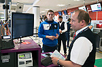 FK Trakai v St Johnstone&hellip;05.07.17&hellip; Europa League 1st Qualifying Round 2nd Leg<br />St Johnstone midfielder Blair Alston checks in for the flight to Vilnius in Lithuania at Edinburgh Airport<br />Picture by Graeme Hart.<br />Copyright Perthshire Picture Agency<br />Tel: 01738 623350  Mobile: 07990 594431
