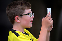 A young fans watches the Dream11 Super Smash cricket final between the Wellington Firebirds and Auckland Aces at Basin Reserve in Wellington, New Zealand on Sunday, 19 January 2020. Photo: Dave Lintott / lintottphoto.co.nz