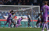 Plymouth Argyle take the lead as Reuben Reid of Plymouth Argyle (not pictured) scores his goal during the Sky Bet League 2 match between Wycombe Wanderers and Plymouth Argyle at Adams Park, High Wycombe, England on 12 September 2015. Photo by Andy Rowland.