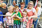 Vanessa McNamara Roche, Eoin and Aisling McNamara, Sharon Roche and Zoe Fitzgerald from Tralee enjoying the Rose parade on Sunday.