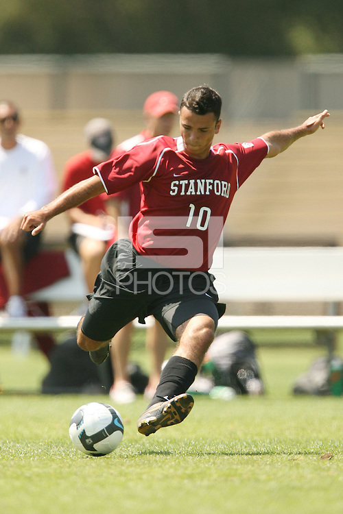 STANFORD, CA - AUGUST 20:  Thiago Sa Freire of the Stanford Cardinal during Stanford's 0-0 tie with Sonoma State on August 20, 2009 in Stanford, California.
