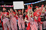 SIOUX FALLS, SD - MARCH 8:  South Dakota fans cheer after a score against South Dakota State during the women's championship game at the 2016 Summit League Tournament at the Denny Sanford Premier Center in Sioux Falls, S.D. (Photo by Dick Carlson/Inertia)