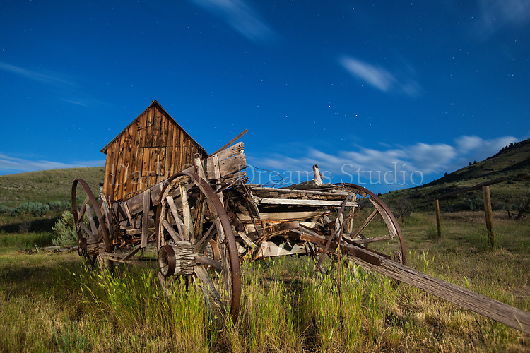 Bannack Wagon & Shed #1