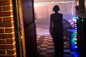 Meredith Pittman waits outside of Berkley Cafe for Damien Jurardo's set on September 7, 2012.