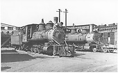 3/4 engineer's-side view of C-19 #345 &amp; #343 on lease to C&amp;S at C&amp;S Denver roundhouse.<br /> D&amp;RGW  Denver, CO  ca. 1935