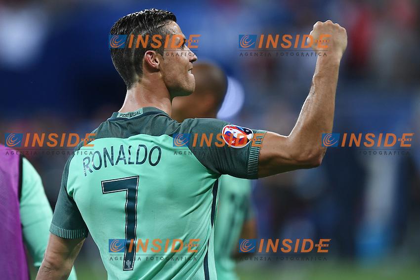 Cristiano Ronaldo celebrates Esultanza <br /> Lyon 06-07-2016 Stade de Lyon Football Euro2016 Portugal - Wales / Portogallo - Galles Semi-finals / Semifinali <br /> Foto Matteo Gribaudi  / Image / Insidefoto