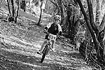 Mini MTB Series. Bethany Park, Kaiteriteri, Motueka, Nelson, New Zealand. Sunday 27 July 2014.(NOTE: Image has been shot in black and white. Color version not available). Photo Chris Symes/www.shuttersport.co.nz