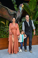 Tamera Mowry, Adam Housley &amp; Son at the premiere for &quot;Jurassic World: Fallen Kingdom&quot; at the Walt Disney Concert Hall, Los Angeles, USA 12 June 2018<br /> Picture: Paul Smith/Featureflash/SilverHub 0208 004 5359 sales@silverhubmedia.com