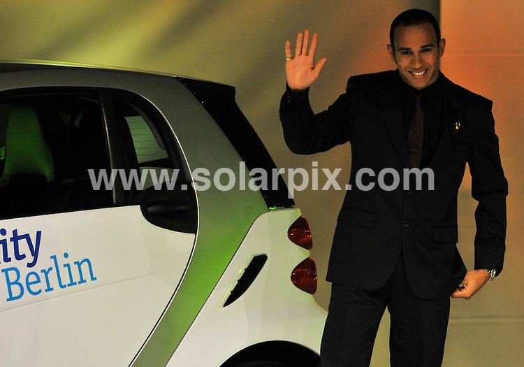 **ALL ROUND PICTURES FROM SOLARPIX.COM**.**SYNDICATION RIGHTS FOR UK AND SPAIN ONLY**.Lewis Hamilton and Nicole Scherzinger at the 'Goldenes Lenkrad' (Golden Steering Wheel) Awards in Berlin, Germany. 5th November 2008..This pic: Lewis Hamilton..JOB REF: 7806 CPR (Bilan/dfd)   DATE: 05_11_2008.**MUST CREDIT SOLARPIX.COM OR DOUBLE FEE WILL BE CHARGED* *UNDER NO CIRCUMSTANCES IS THIS IMAGE TO BE REPRODUCED FOR ANY ONLINE EDITION WITHOUT PRIOR PERMISSION*