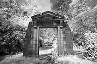 Doorway by the Dell at the University of Virginia in Charlottesville, Va. Photo/Andrew Shurtleff Photography, LLC