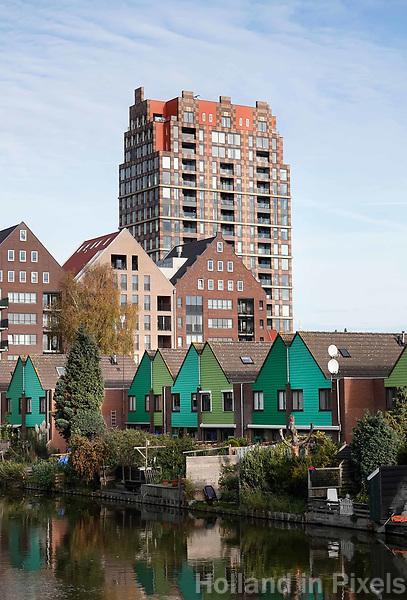 Nederland Zaandam 2018. Stadsvenieuwing Inverdan. Woontoren de Tsaar (Hermitage) . Foto Berlinda van Dam / Hollandse Hoogte