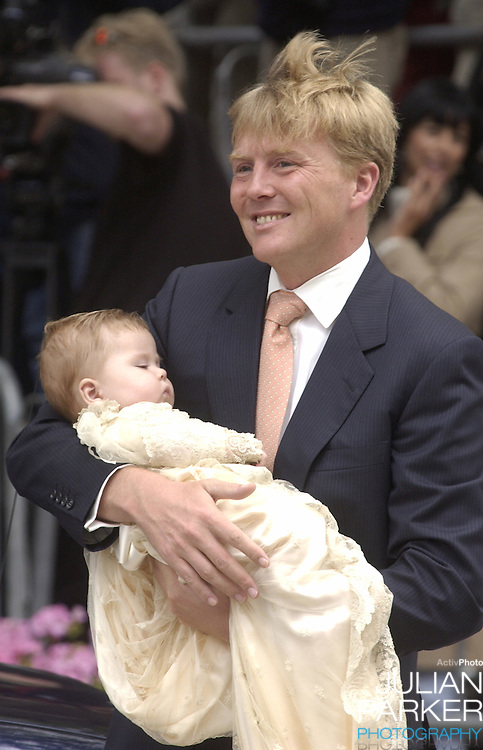 The Christening of Crown Prince Willem-Alexander & Crown Princess Maxima of Holland's daughter Catharina-Amalia at the St. Jacobskerk Church in The Hague..