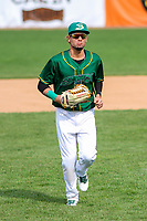 Beloit Snappers outfielder Luis Barrera (16) jogs in from the outfield during a Midwest League game against the Peoria Chiefs on April 15, 2017 at Pohlman Field in Beloit, Wisconsin.  Beloit defeated Peoria 12-0. (Brad Krause/Four Seam Images)