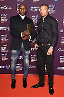 Chris Eubank Sr. &amp; son Chris Eubank Jr. at the BT Sport Industry Awards 2017 at Battersea Evolution, London, UK. <br /> 27 April  2017<br /> Picture: Steve Vas/Featureflash/SilverHub 0208 004 5359 sales@silverhubmedia.com