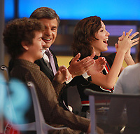 NEW YORK, NY October 31, 2017  Gaten Matarazzo,George Stepanopoulos, Millie Bobby Brown at Good Morning America  to talk about the new season of Stranger Things in New York October 31,  2017. Credit:RW/MediaPunch