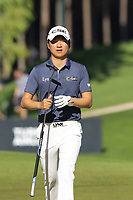 Jeunghun Wang (KOR) on the 7th green during Saturday's Round 3 of the 2018 Turkish Airlines Open hosted by Regnum Carya Golf &amp; Spa Resort, Antalya, Turkey. 3rd November 2018.<br /> Picture: Eoin Clarke | Golffile<br /> <br /> <br /> All photos usage must carry mandatory copyright credit (&copy; Golffile | Eoin Clarke)
