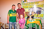 Kerry footballer, Aidan O'Mahony with John and Kayla Dineen.
