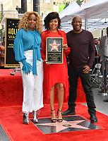 LOS ANGELES, CA. January 28, 2019: Mary J. Blige, Taraji P. Henson &amp; John Singleton at the Hollywood Walk of Fame Star Ceremony honoring Taraji P. Henson.<br /> Pictures: Paul Smith/Featureflash