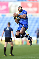 Aled Brew of Bath Rugby claims the ball in the air during the pre-match warm-up. Aviva Premiership match, between London Irish and Bath Rugby on November 19, 2017 at the Madejski Stadium in Reading, England. Photo by: Patrick Khachfe / Onside Images