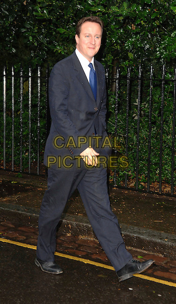 DAVID CAMERON .Attending David Frost's Summer Party, at Sir David Frost's private residence in London, England, July 9, 2008..full length blue suit tie jacket Conservative MP.CAP/WIZ.©Wizard/Capital Pictures