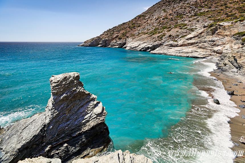 Mouros beach of Amorgos island in Cyclades, Greece