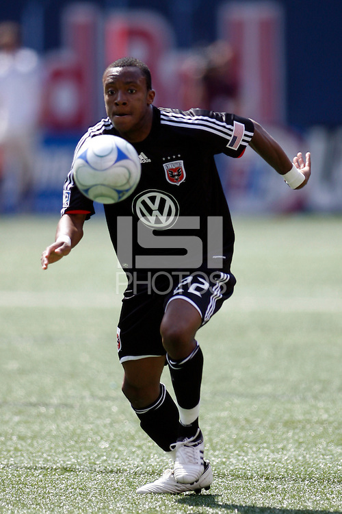 Rodney Wallace (22) of DC United. D. C. United defeated the New York Red Bulls 3-2 during a Major League Soccer match at Giants Stadium in East Rutherford, NJ, on April 26, 2009.