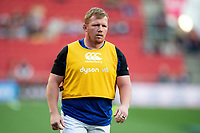 Jacques van Rooyen of Bath Rugby looks on during the pre-match warm-up. Gallagher Premiership match, between Bristol Bears and Bath Rugby on August 31, 2018 at Ashton Gate Stadium in Bristol, England. Photo by: Patrick Khachfe / Onside Images