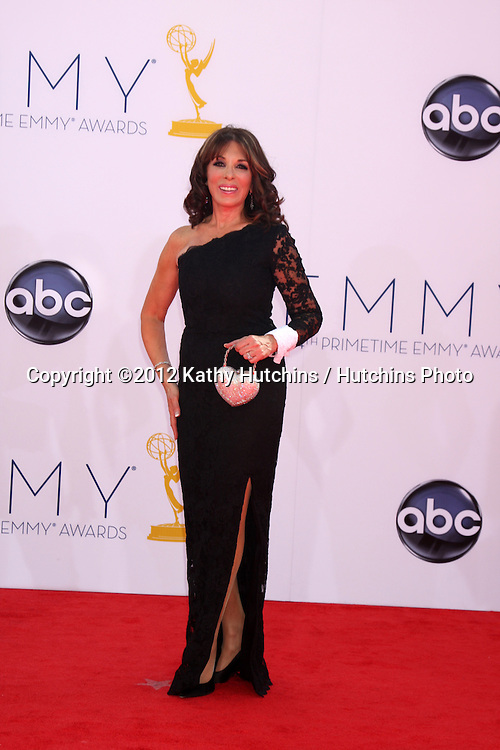 LOS ANGELES - SEP 23:  Kate Linder arrives at the 2012 Emmy Awards at Nokia Theater on September 23, 2012 in Los Angeles, CA