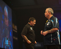 04.01.2015.  London, England.  William Hill PDC World Darts Championship.  Finals Night.  Phil Taylor (2) [ENG] in action in his game against Gary Anderson (4) [SCO]