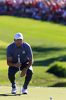 Sergio Garcia (ESP)(Team Europe) on the 16th green during Sunday Singles matches at the Ryder Cup, Hazeltine National Golf Club, Chaska, Minnesota, USA.  02/10/2016<br /> Picture: Golffile | Fran Caffrey<br /> <br /> <br /> All photo usage must carry mandatory copyright credit (&copy; Golffile | Fran Caffrey)