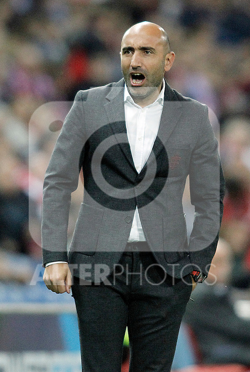 Sporting de Gijon's coach Abelardo Fernandez during La Liga match. November 8,2015. (ALTERPHOTOS/Acero)