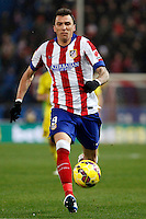Mario Mandzukic of Atletico de Madrid and of Villarreal during La Liga match between Atletico de Madrid and Villarreal at Vicente Calderon stadium in Madrid, Spain. December 14, 2014. (ALTERPHOTOS/Caro Marin) /NortePhoto