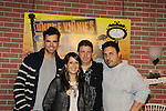 General Hospital - Kimberly McCullough and Jason Thompson pose with Dino & Jerry at Uncle Vinnie's Comedy Club in Point Pleasant, New Jersey on Novermber 14, 2010 for fun, questions. photos and autographs. (Photo by Sue Coflin/Max Photos)