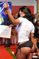 SAO PAULO, SP, 03 DE MAIO DE 2012 - GATA DO PAULISTÃO 2012 - Lorenza Bueri, representante do Bragantino é eleita Gata do Paulistão 2012 na competição realizada na noite desta quinta feira, na sede da Federação Paulista no bairro da Barra Funda em São Paulo.(FOTO: LEVI BIANCO - BRAZIL PHOTO PRESS)