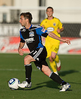 Bobby Convey of Earthquakes in action during the game against the Crew at Buck Shaw Stadium in Santa Clara, California on June 2nd, 2010.  San Jose Earthquakes tied Columbus Crew, 2-2.