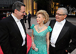 Anthony Freud, Margaret Alkek Williams and chair Rudy Avelar at the Houston Grand Opera Ball at the Wortham Theater Saturday April 09,2011.(Dave Rossman/For the Chronicle)