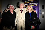 """SANTA MONICA -FEB 11: Ben Lanzarone, Hal Holbrook, Ilene Graff at """"Hal Holbrook in Mark Twain TONIGHT!,"""" a benefit for The Actors Fund, at The Broad Stage on February 11, 2016 in  Santa Monica, California"""