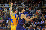 League ACB-ENDESA 2017/2018 - Game: 12.<br /> FC Barcelona Lassa vs Herbalife Gran Canaria: 77-88.<br /> Ondrej Balvin vs Ante Tomic.