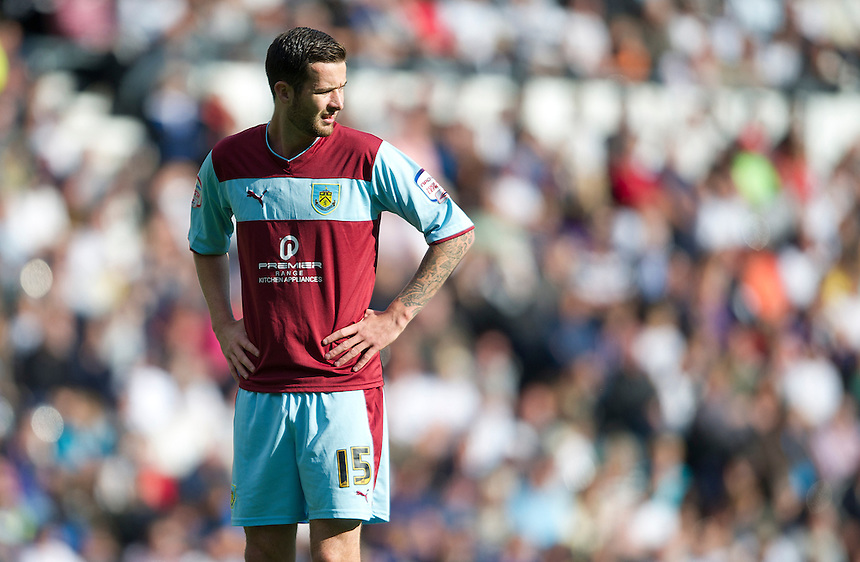 Burnley's David Edgar ..Football - npower Football League Championship - Derby County v Burnley - Saturday 22nd September 2012 - Pride Park - Derby..