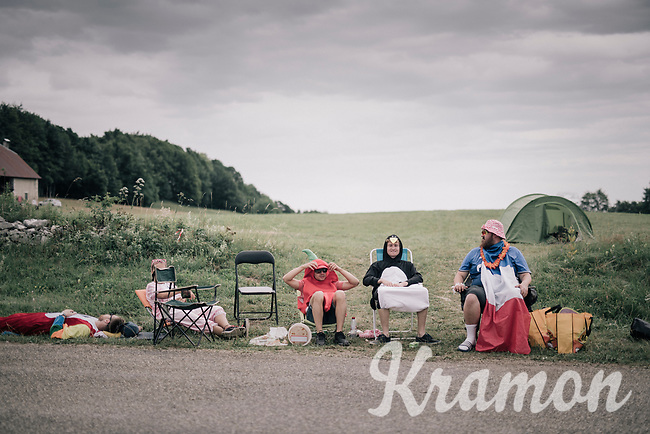 waiting roadside fans<br /> <br /> 104th Tour de France 2017<br /> Stage 9 - Nantua › Chambéry (181km)