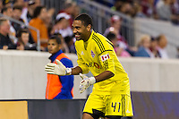 Toronto FC goalkeeper Freddy Hall (41). The New York Red Bulls defeated Toronto FC 4-1 during a Major League Soccer (MLS) match at Red Bull Arena in Harrison, NJ, on September 29, 2012.