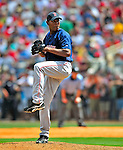 14 March 2009: Boston Red Sox' pitcher Devern Hansack on the mound during a Spring Training game against the Baltimore Orioles at Fort Lauderdale Stadium in Fort Lauderdale, Florida. The Orioles defeated the Red Sox 9-8 in the Grapefruit League matchup. Mandatory Photo Credit: Ed Wolfstein Photo