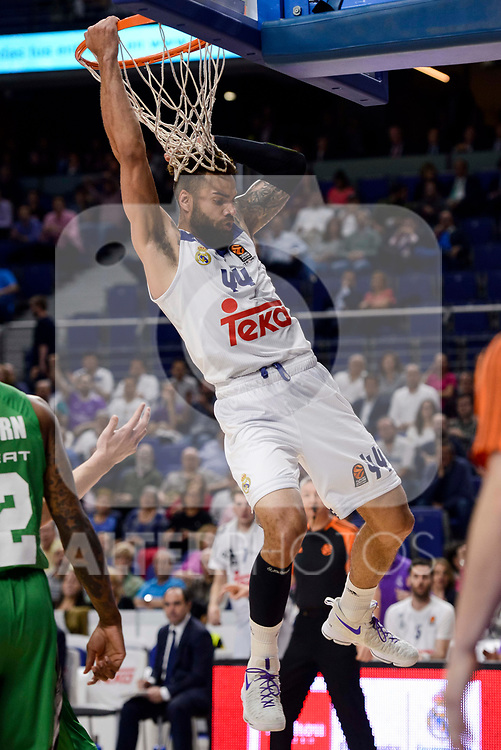 Real Madrid's  Jeffery Taylorduring quarter final of Turkish Airlines Euroleague match between Real Madrid and Darussafaka Dogus at Wizink Center in Madrid, April 20, 2017. Spain.<br /> (ALTERPHOTOS/BorjaB.Hojas)