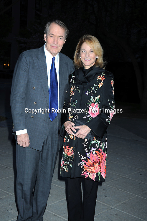 Charlie Rose and Amanda Burden arriving at The Vanity Fair Tribeca Film Festival Party on April 20, 2010 at The State Supreme Courthouse in New York City.
