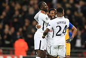6th December 2017, Wembley Stadium, London England; UEFA Champions League football, Tottenham Hotspur versus Apoel Nicosia; Georges-Kevin Nkoudou of Tottenham Hotspur celebrates with team mates after scoring making it 3-0