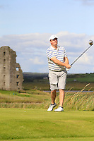 Michael Buggy (Castlecomer) on the 13th tee during Round 2 of The South of Ireland in Lahinch Golf Club on Sunday 27th July 2014.<br /> Picture:  Thos Caffrey / www.golffile.ie