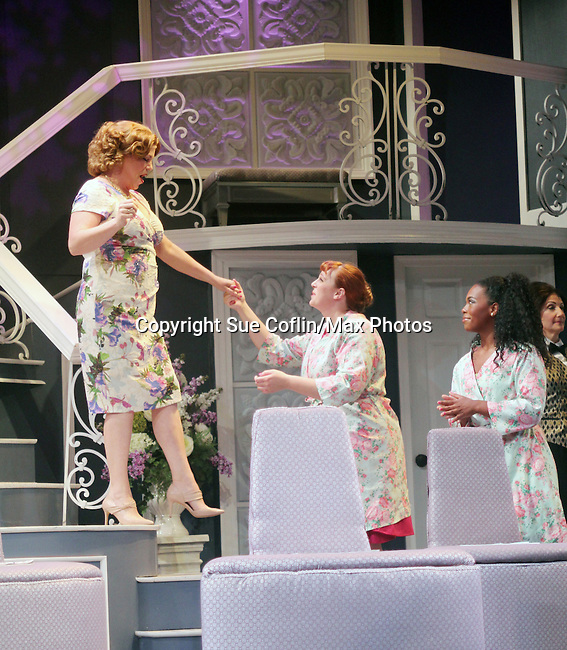 """All My Children's Jane Brockman and Molly Tower and Drew Tildon star in """"It Shoulda Been You"""" - a new musical comedy - at the Gretna Theatre, Mt. Gretna, PA on July 30, 2016. (Photo by Sue Coflin/Max Photos)"""